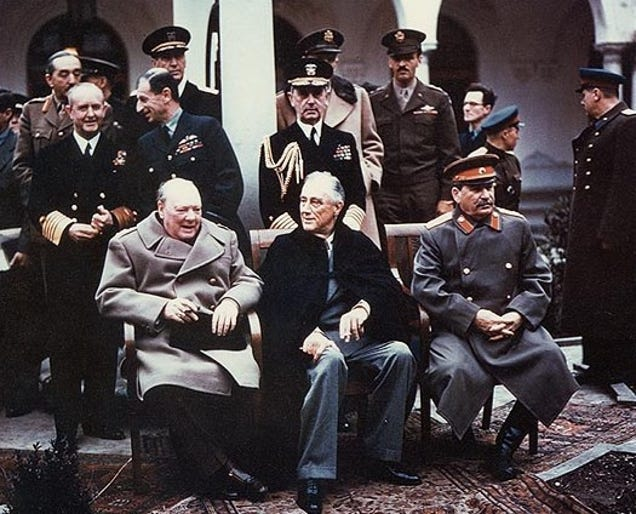 Did Franklin D. Roosevelt end up on the winning or losing side in world war2?