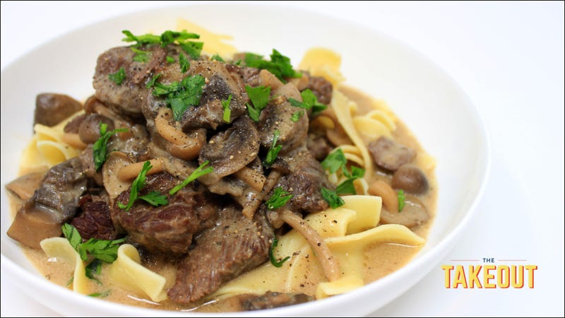 Use an Instant Pot to turn Beef Stroganoff into Pot Roast Stroganoff