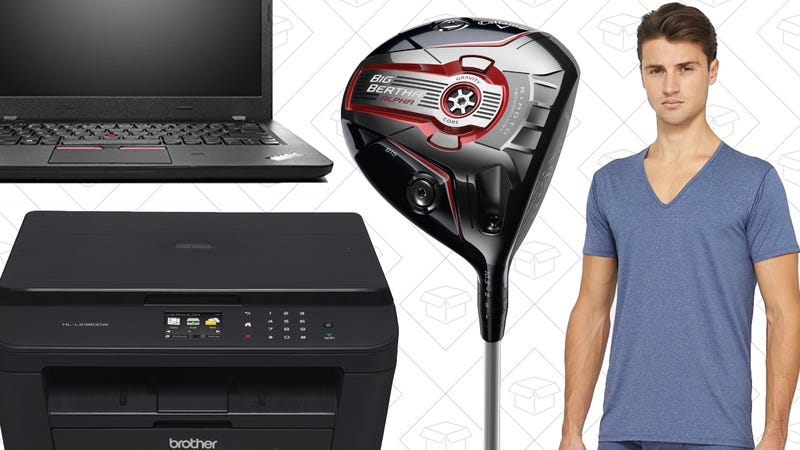 Illustration for article titled The Best Memorial Day Deals: Laser Printers, Cheap ThinkPad, Golfing Gear, and More