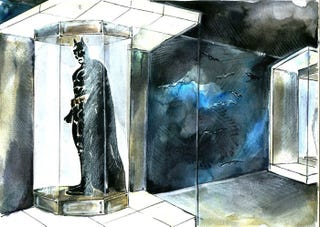 Illustration for article titled New Concept Art Shows The Batcave Under Bruce's Penthouse