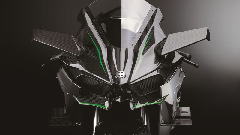 the psychotic 300-hp kawasaki ninja h2r is a hellcat on two wheels