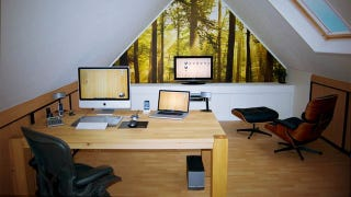 Illustration for article titled Wooden Simplicity: A Clean and Natural Home Office