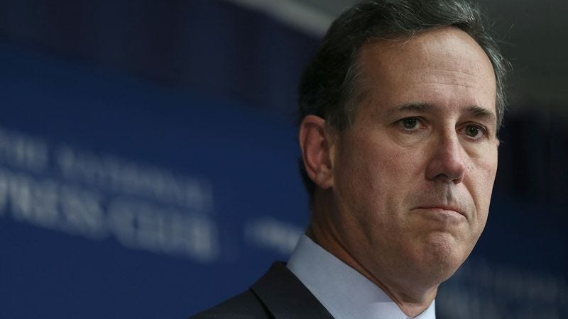 Illustration for article titled Frustrated Rick Santorum Still Waiting For Go-Ahead From God To Suspend Presidential Campaign
