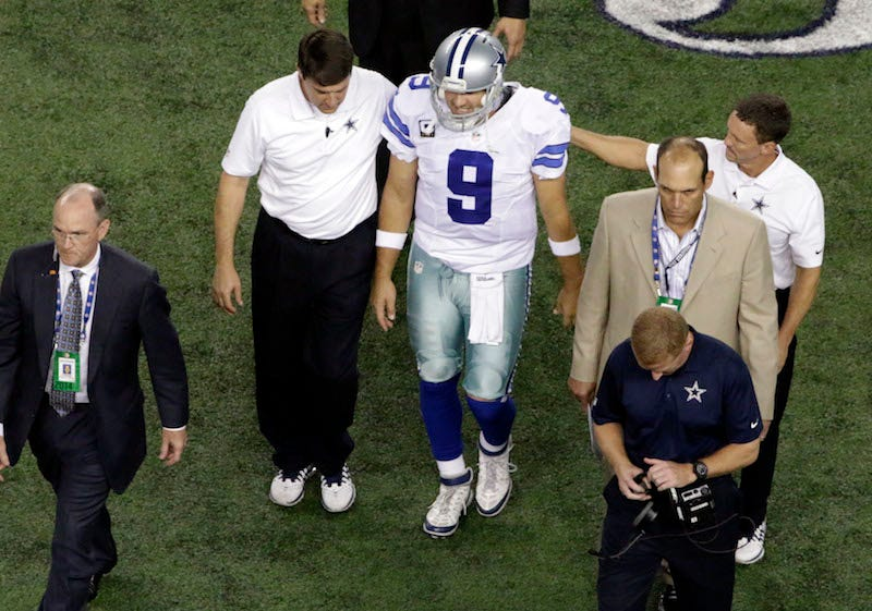 Illustration for article titled Jerry Jones: Tony Romo's Status Depends On His Pain Tolerance