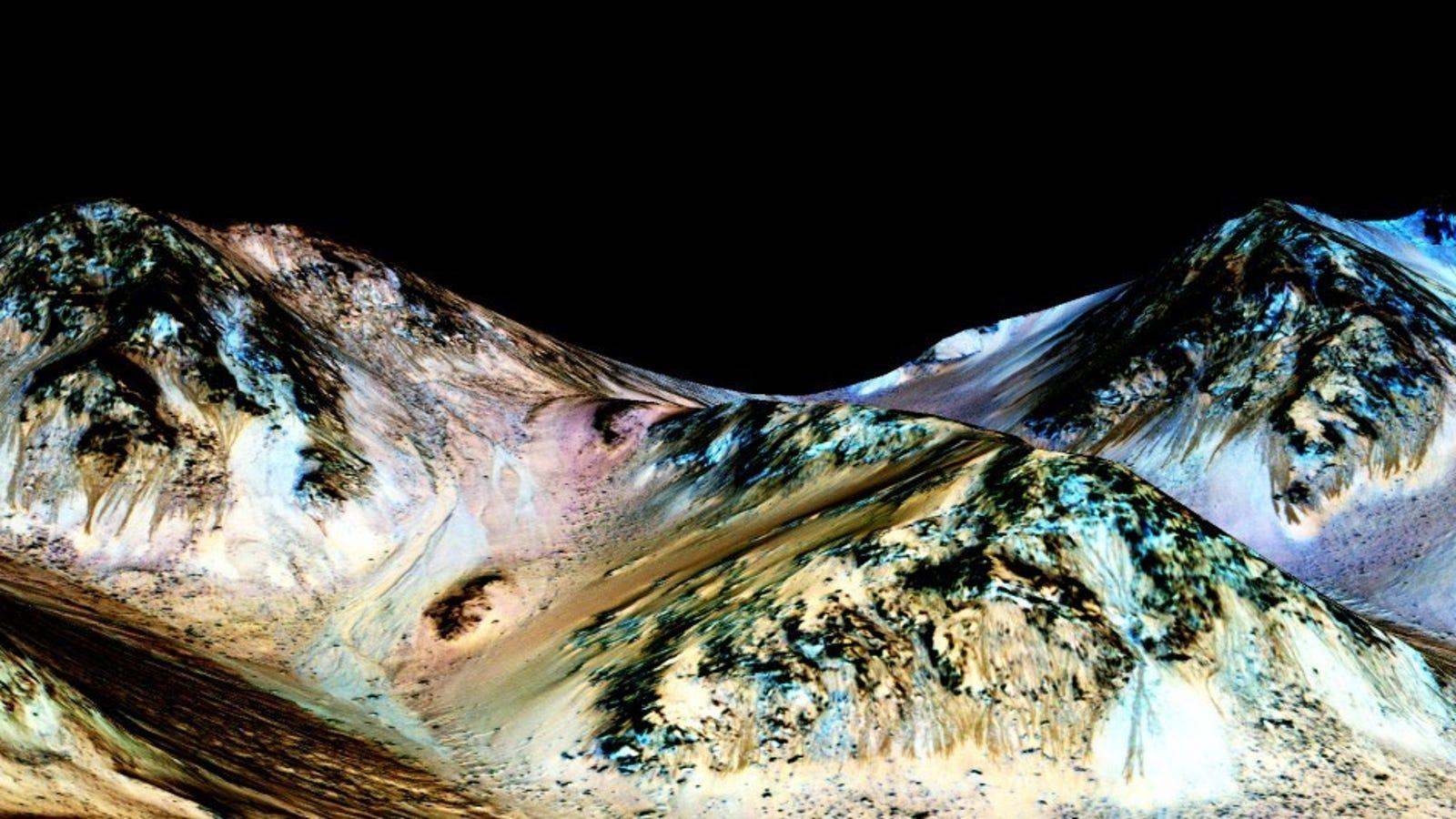 La NASA encuentra pruebas de agua líquida en Marte