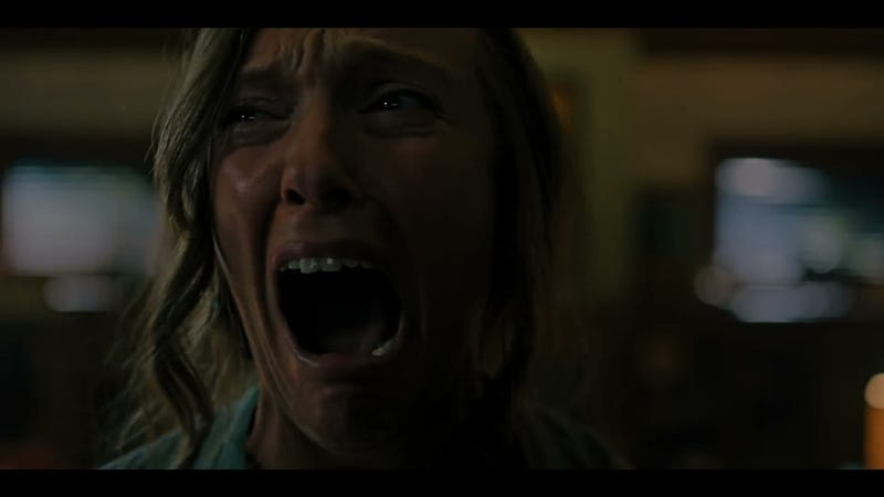 An image of either Toni Collette in Hereditary, or me watching Toni Collette in Hereditary.