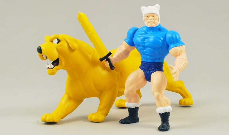 Illustration for article titled A He-Finn Figure Will Make You Want a He-Man and Adventure TimeCartoon Mashup Too