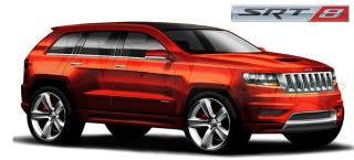 Illustration for article titled 2012 Jeep Grand Cherokee SRT8 charging into NYC with 470 hp