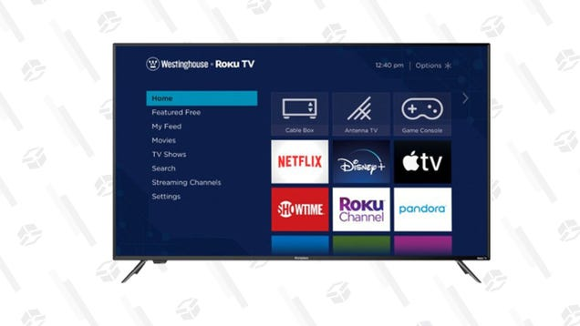 Drown Out a Chaotic News Cycle for a Minute With Your Favorite Shows on This $400 Westinghouse 65-Inch Roku TV