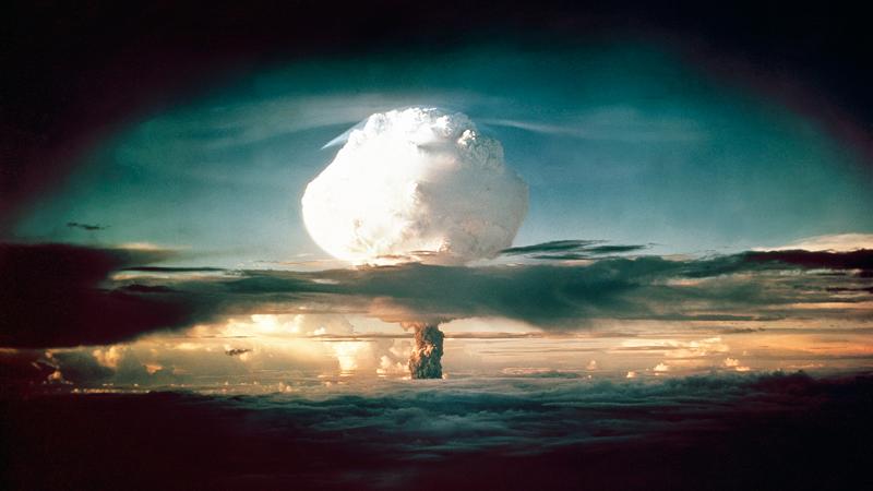 """El hongo nuclear de la bomba de hidrógeno """"Ivy Mike"""" en 1952. (Foto: AP Images)"""