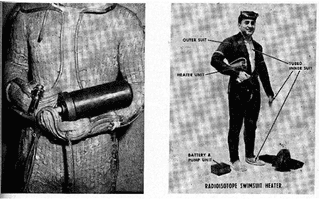 Illustration for article titled The Navy once tried using nuclear-powered wetsuits to keep divers warm