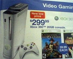 Illustration for article titled Xbox 360 Price Cut Leaked By K-Mart Weekly Circular