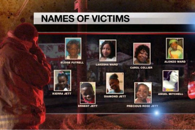Image of a photo array of family members killed in a Sept. 12, 2016, house fire in Memphis, Tenn.GoFundMe screenshot