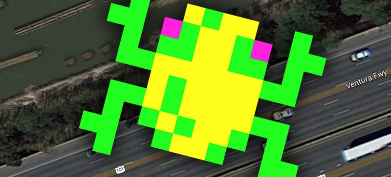 Illustration for article titled Here's What Frogger Would Look Like In Google Earth