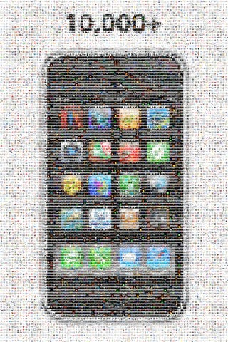 Illustration for article titled iPhone Mosaic Celebrates 10,000 Apps and Counting