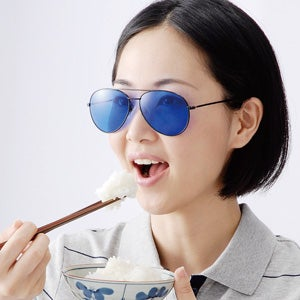 Illustration for article titled Weight Loss Sunglasses Make Your Food Look Gross so You Won't