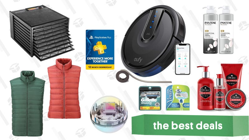 Illustration for article titled Monday's Best Deals: Uniqlo Vests, PlayStation Plus, Eufy RoboVacs, Sphero, and More