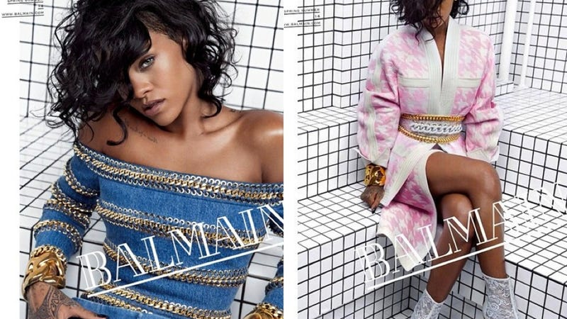 Illustration for article titled Rihanna Is The New Face Of Balmain