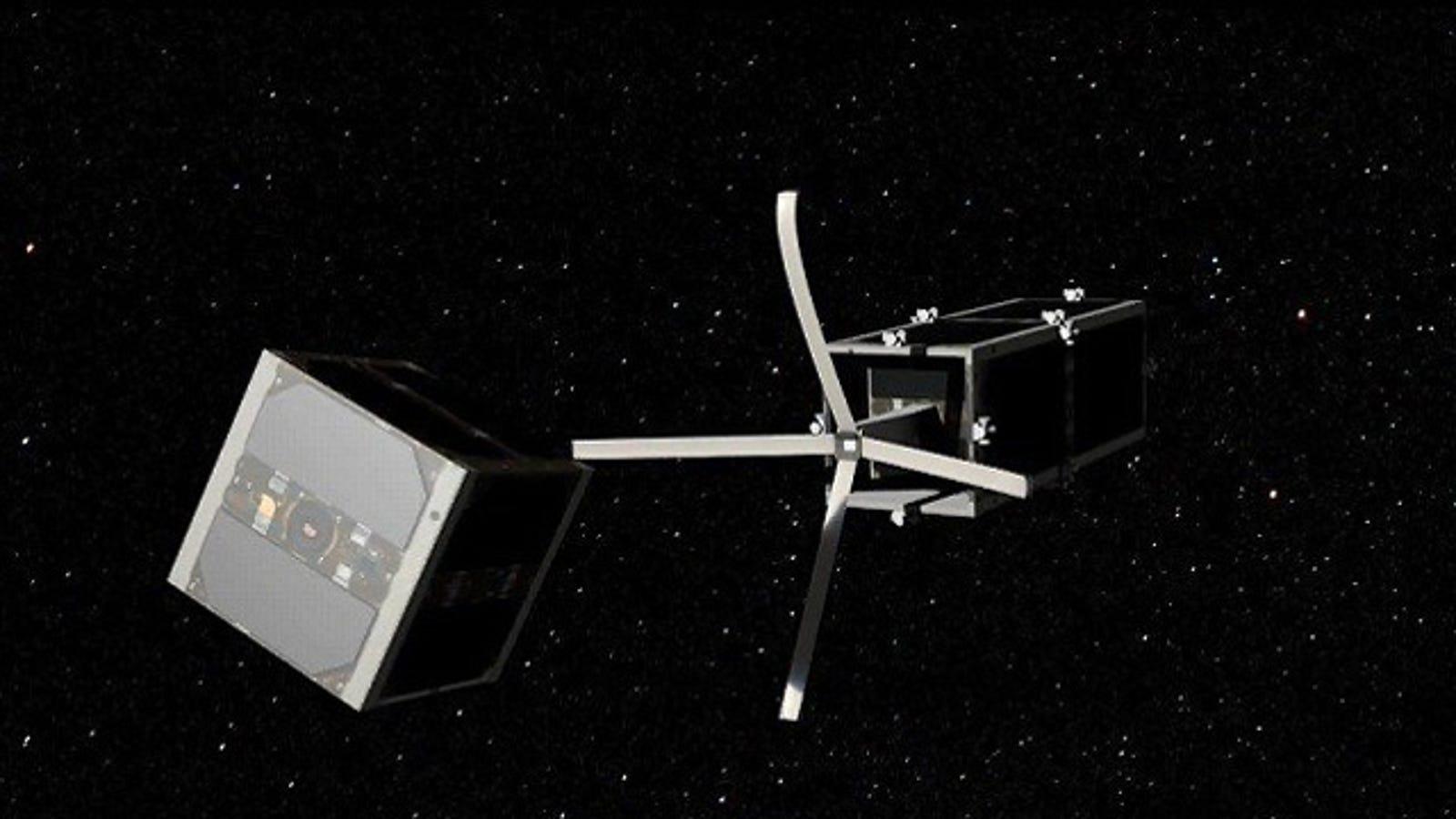 Este satélite suicida limpiará de basura el espacio