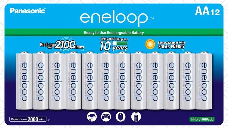 Eneloop AA 12-Pack, $20