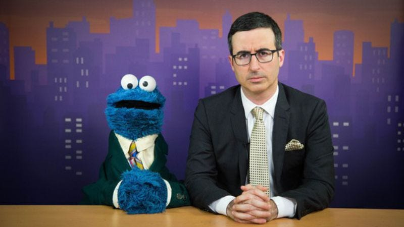 Illustration for article titled The news team of John Oliver and Cookie Monster is edutainment at its finest