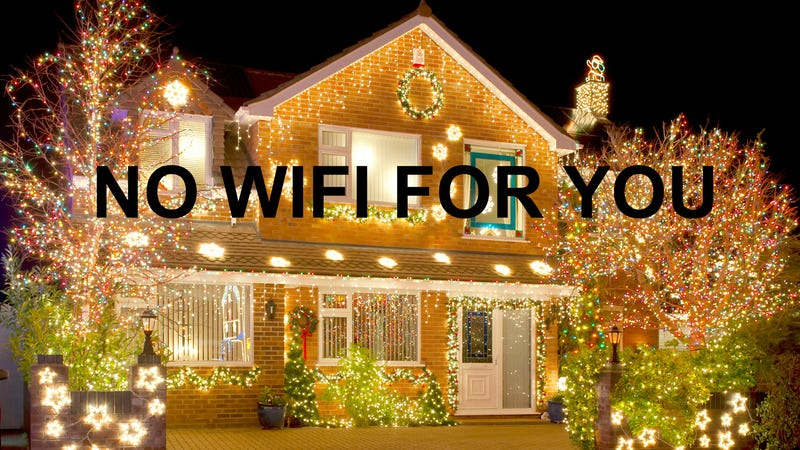 Illustration for article titled War on Christmas Alert: Christmas Lights Might Be Screwing With Your Wifi
