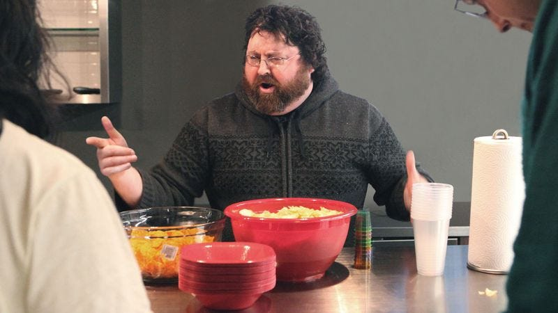 Illustration for article titled Super Bowl Party Host Screams At Guests For Lackluster First-Half Snacking