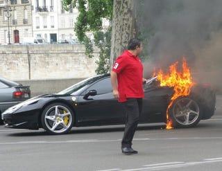 Illustration for article titled Ferrari Flambé: Italian Automaker Probes 458 Italia Fires, Blames Drivers