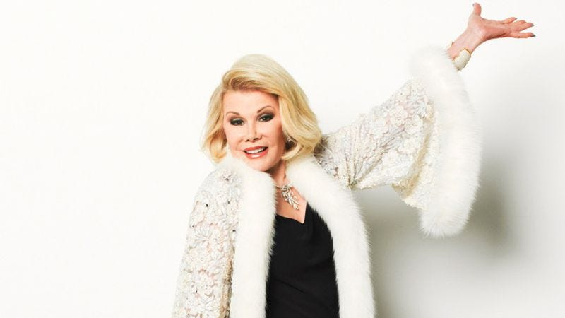 Illustration for article titled Goodbye, Joan Rivers