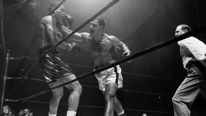 Illustration for article titled Night For Joe Louis: Red Smith On Rocky Marciano's Knockout