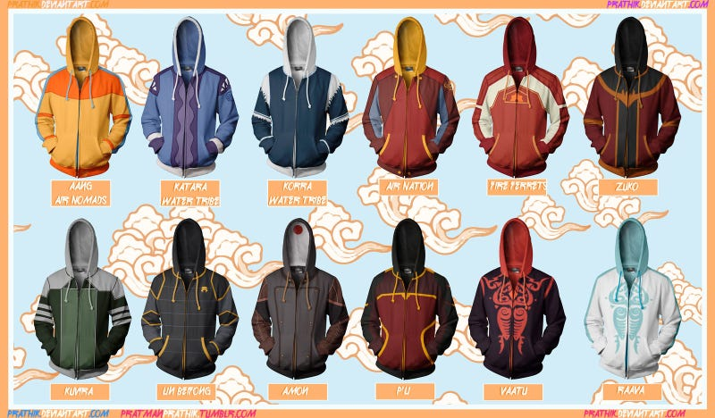these unbelievably awesome avatar korra hoodies need to be real now