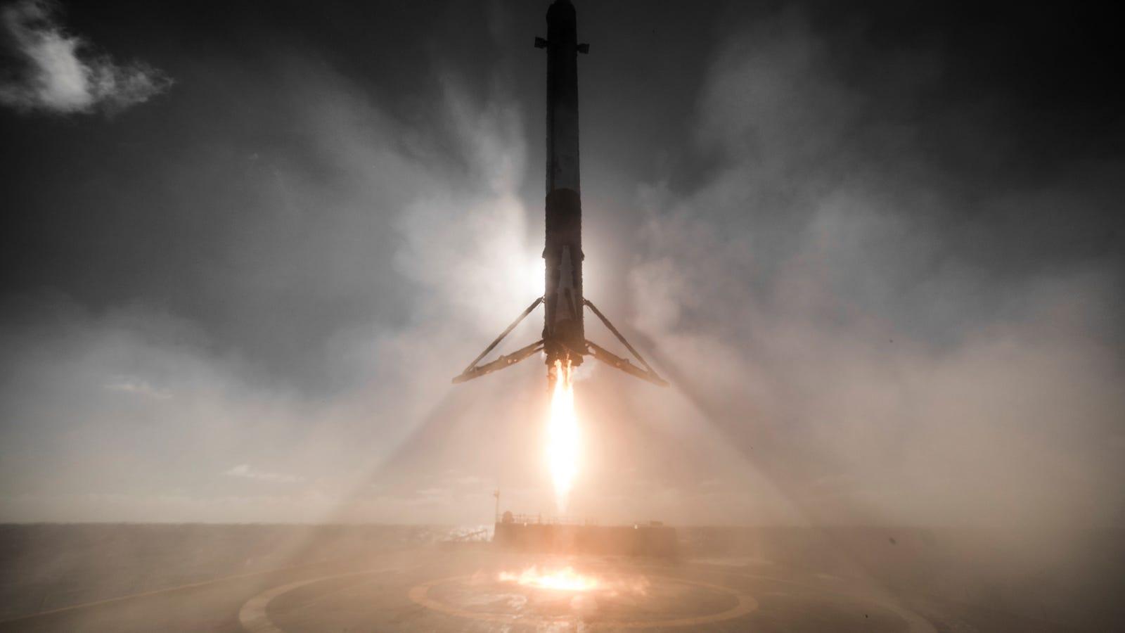 This SpaceX Rocket Landing Looks Downright Divine