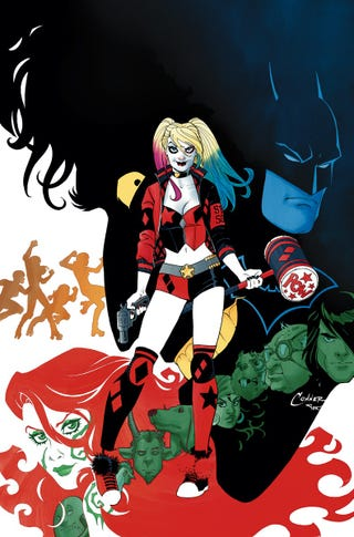 The cover to Harley Quinn vol 3 #1 by Amanda Conner and Alex Sinclair.