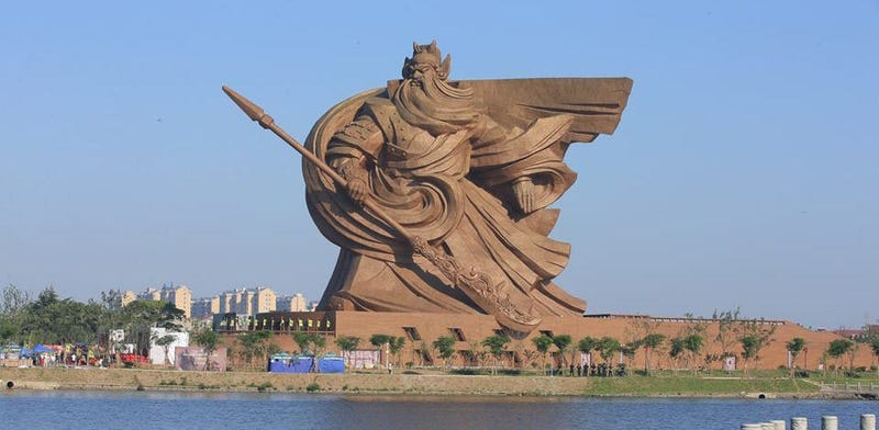 Illustration for article titled This Statue for a Chinese Warrior Is Very Probably the Most Badass Statue Ever