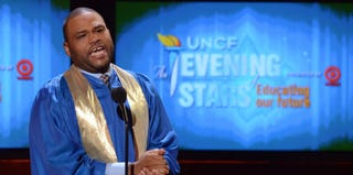 Host Anthony Anderson speaks onstage during UNCF's 33rd annual An Evening Of Stars. (Mark Davis/Getty)