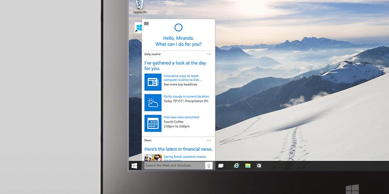 Illustration for article titled El asistente de voz Cortana llega a Windows 10: así funcionará en el PC