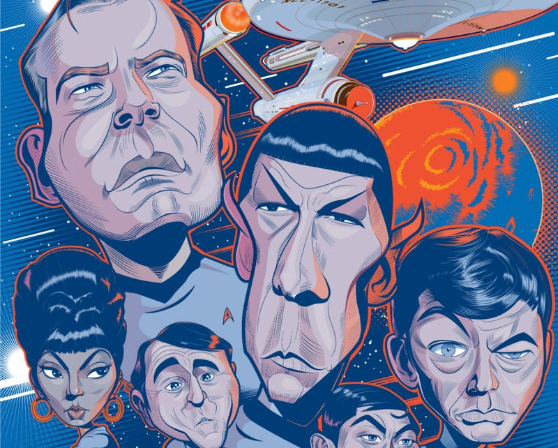 Illustration for article titled These Caricatures Of Sci-Fi Icons Are Absolutely Perfect