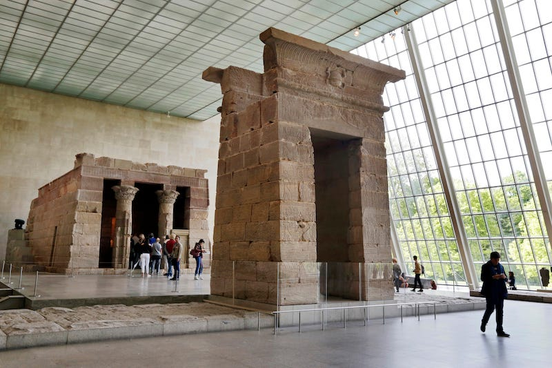 The Temple of Dendur at the Metropolitan Museum of Art / Image via AP