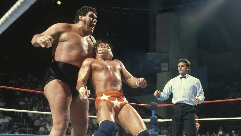 "Andre The Giant versus ""Macho Man"" Randy Savage"