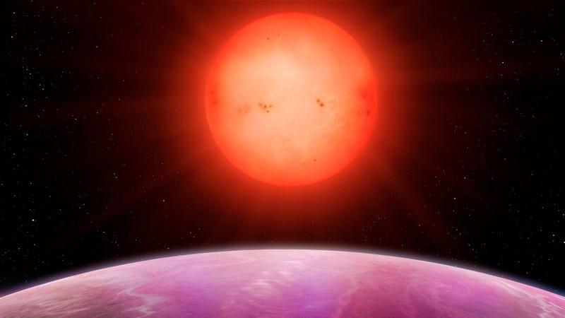 Artist's impression of sunrise on planet NGTS-1b (Image: University of Warwick/Mark Garlick)