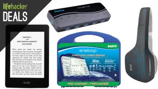 Illustration for article titled Kindle and Kindle Fires on Sale, Eneloop Batteries, USB Drives [Deals]