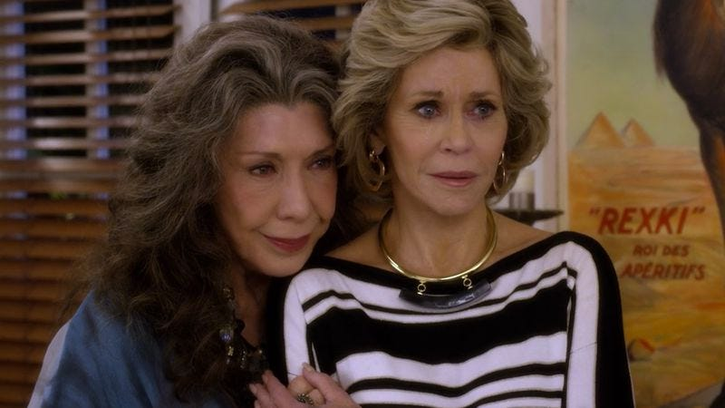Illustration for article titled Grace And Frankie gets real about life and death