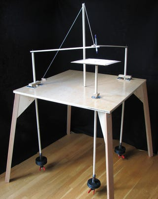 Illustration for article titled DIY, uh, Three-Pendulum Rotary Harmonograph