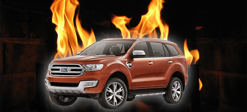 Illustration for article titled Ford Everest SUV Burns During Journalist's Test; No Repeatable Problems Found Yet
