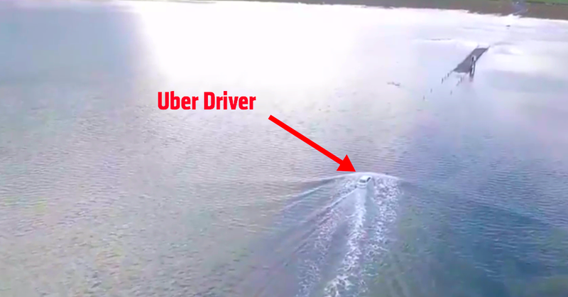 Uber Driver Attempted To Drive Through The Sea After