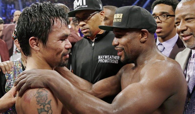 Illustration for article titled Floyd Mayweather And Manny Pacquiao Will Stage History's Least Wanted Rematch