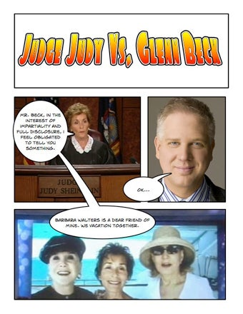 Illustration for article titled Comic Confrontations: Judge Judy Vs. Glenn Beck
