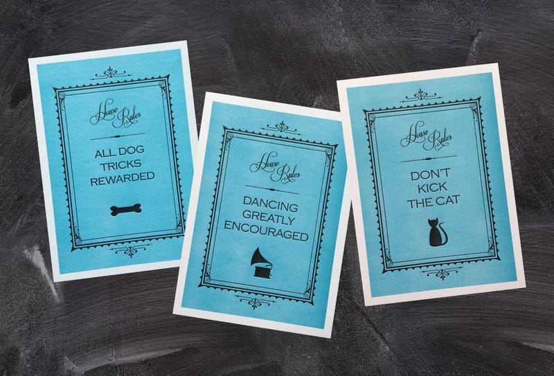 Illustration for article titled Okie Dokie, just listed my letterpress House Rules prints!