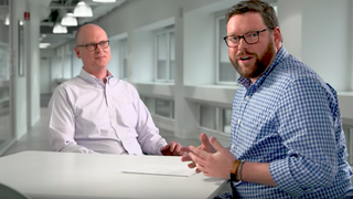 "A still from Verizon's anti-net neutrality video, featuring general counsel Craig Silliman and ""Jeremy"""
