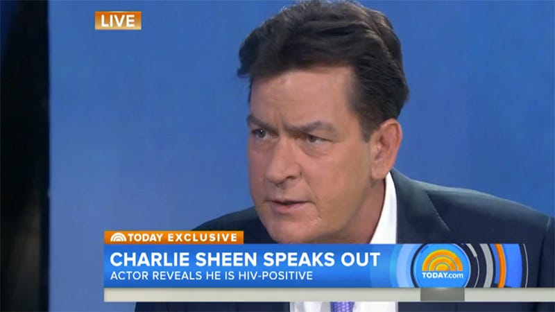 Illustration for article titled Charlie Sheen Just Announced He Is HIV-Positive, Was Diagnosed Four Years Ago